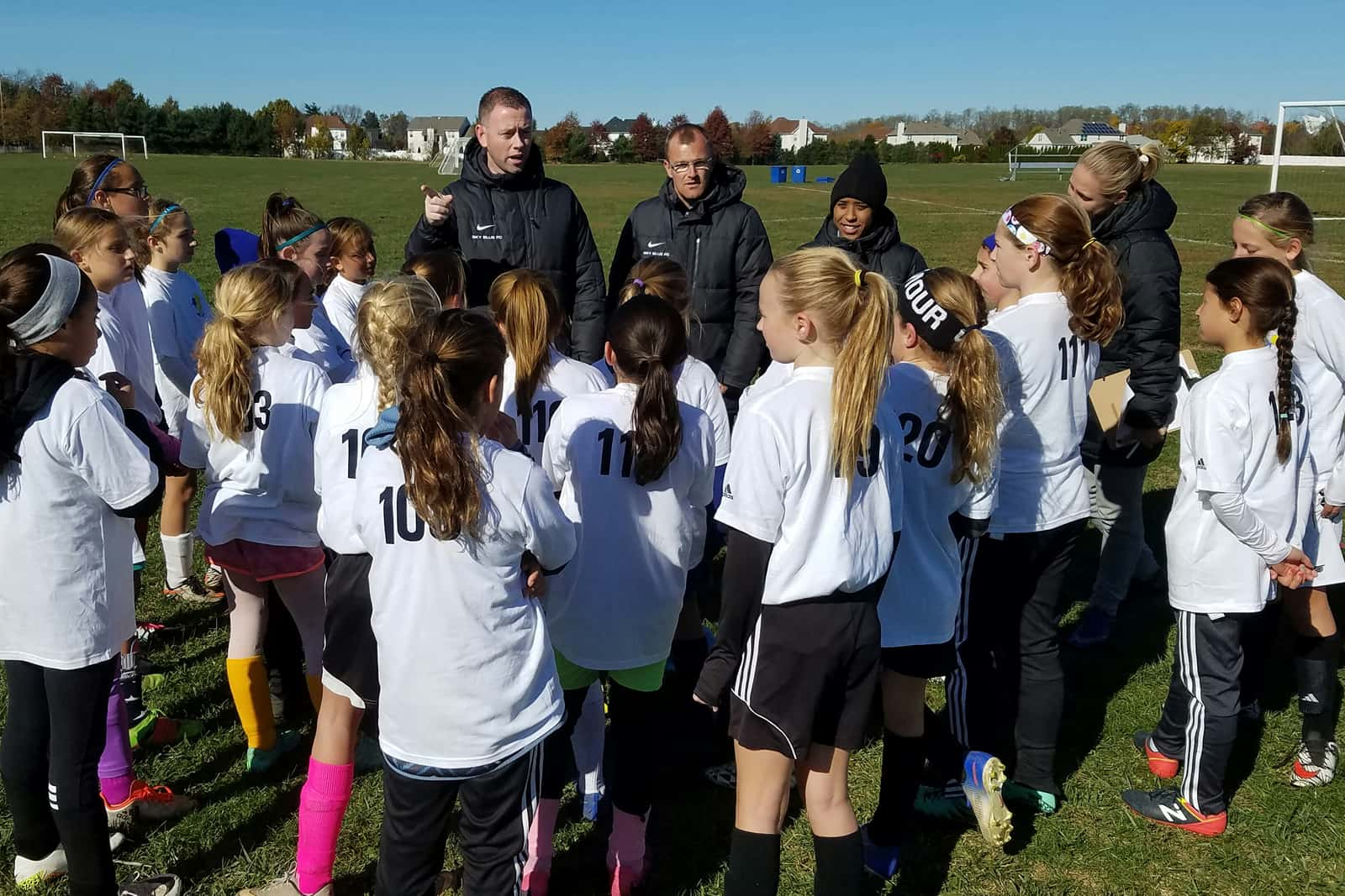 Christy Holly at Tryouts for NJ Youth Soccer's Young Olympians and Club NJYS Programs