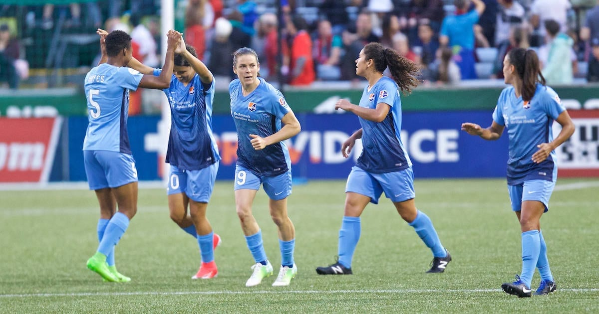Sky Blue FC Celebration