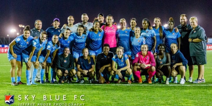 Sky Blue FC Exercises Player Options on Nine Players